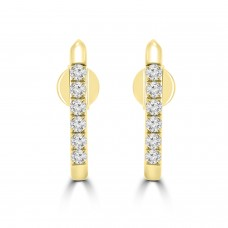 0.31 Ct Round Cut Diamond Stud Earrings in 14k Yellow Gold