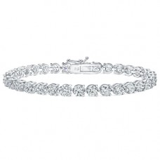 4.00 ct Ladies Round Cut Diamond Three Prong Tennis Bracelet