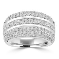 4.10 ct Ladies Princess and Round Cut Diamond Anniversary Ring