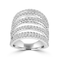 4.46 ct Ladies Round Cut Diamond Anniversary Ring