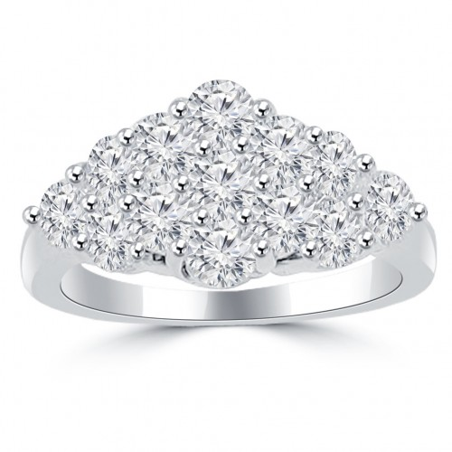 2.50 ct Ladies Round Cut Diamond Anniversary Ring in Prong Setting