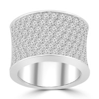 3.03 ct Ladies Round Cut Diamond Anniversary Wedding Band Ring ( G Color SI-1 Clarity)