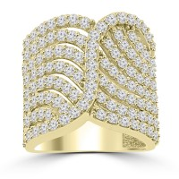 2.65 ct Ladies Round Cut Diamond Designer Cocktail Ring in 14 kt Yellow Gold