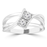 0.50 ct Ladies Round Cut Diamond Anniversary Wedding Band Ring ( G Color SI-1 Clarity)