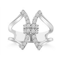 0.50 ct Ladies Round Cut Diamond Anniversary Ring in Prong Setting