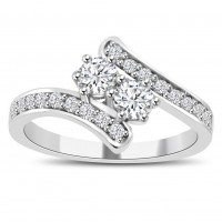 0.71 ct Ladies Round Cut Diamond Anniversary Wedding Band Ring