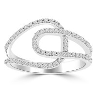 0.40 ct Ladies Brilliant Cut Diamond Anniversary Ring