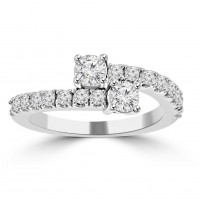 0.95 ct Ladies Round Cut Diamond Anniversary Wedding Band Ring