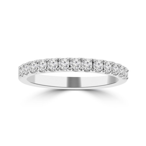 0.50 ct Ladies Round Cut Diamond Wedding Band in 14 kt White Gold