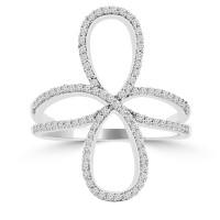 0.90 ct Ladies Brilliant Cut Diamond Anniversary Ring