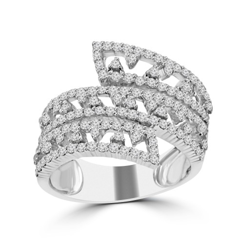 1.50 ct Ladies Round Cut Diamond Anniversary Wedding Band Ring in 14 kt White Gold