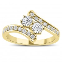 0.71 ct Ladies Round Cut Diamond Anniversary Wedding Band Ring In Yellow Gold