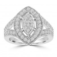 0.85 ct Ladies Round Cut Diamond Anniversary Ring in Prong Setting