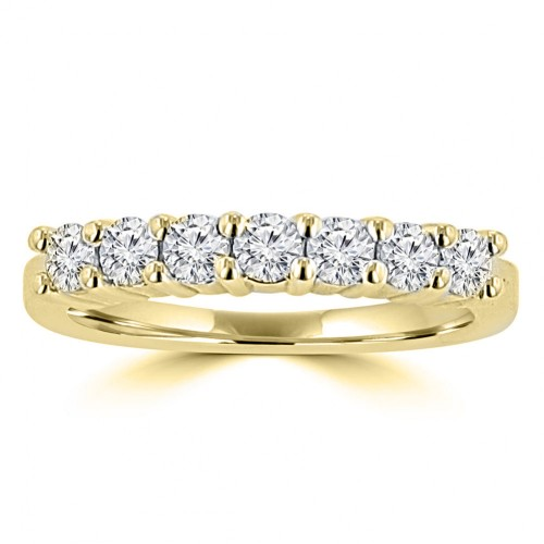 0.50 ct Ladies Round Cut Diamond Wedding Band in 14 kt Yellow  Gold