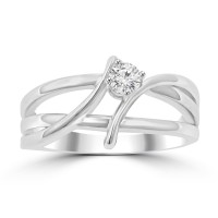 0.80 ct Ladies Brilliant Cut Diamond Anniversary Ring