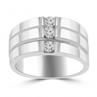 0.30 ct Ladies Round Cut Diamond Anniversary Ring in Channel Setting