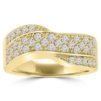 1.25 ct Ladies Round Cut Diamond Anniversary Ring 14 kt Yellow Gold