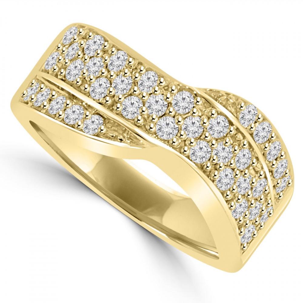 ct ladies round cut diamond anniversary ring 14 kt. Black Bedroom Furniture Sets. Home Design Ideas