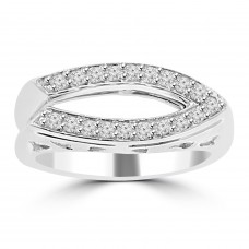 0.28 ct Ladies Round Cut Diamond Anniversary Wedding Band Ring ( G Color SI-1 Clarity)