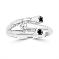0.28 ct Ladies Round Cut Diamond Wedding Band Ring in 14k White Gold