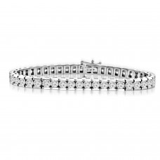 10.15 ct Ladies Round Cut Diamond Tennis Bracelet In Channel Setting