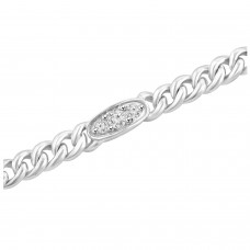 0.76 ct Ladies Cuban Link Round Cut Diamond Tennis Bracelet in 14kt Gold
