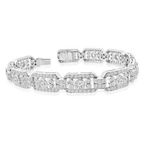 2.50 ct Ladies Round Cut Diamond Tennis Bracelet in 14 kt White Gold
