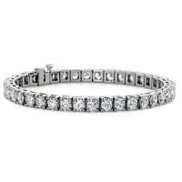 3.00 ct Ladies Round Cut Diamond Tennis Bracelet in 14 kt White Gold