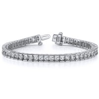 6.00 ct Ladies Round Cut Diamond Tennis Bracelet In Channel Setting