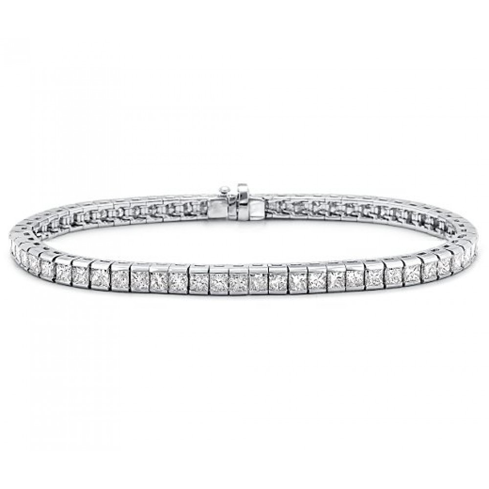 3 00 Ct Princess Cut Diamond Tennis Bracelet In Channel