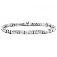 3.00 ct Princess Cut Diamond Tennis Bracelet in Channel Setting