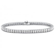 4.00 ct Princess Cut Diamond Tennis Bracelet in Channel Setting