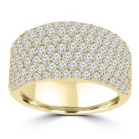 3.25 ct Ladies Round Cut Diamond Anniversary Wedding Band Ring 14 kt Yellow Gold
