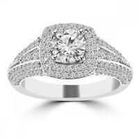 2.02 ct Ladies Round Cut Diamond Engagement Ring in 14 kt White Gold