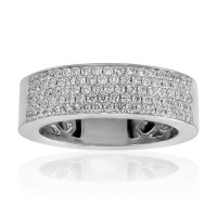 1.50 ct Five Row Ladies Round Cut Diamond Anniversary Ring