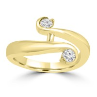 0.26 Ct Round Cut Diamond Anniversary Wedding Band Ring 14 kt Yellow Gold