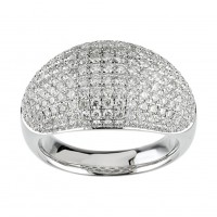5.00 ct Ladies Round Cut Diamond Anniversary Ring In Pave Setting