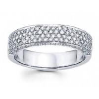 2.00 CT Ladies Four Row Diamond Anniversary Ring