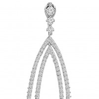 3.75 ct Round Cut Diamond Chandelier Earrings in 14 kt White Gold