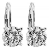 1.00 ct Women's Round Cut Diamond Drop Earrings