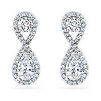 3.50 ct Ladies Round Cut Diamond Drop Earrings