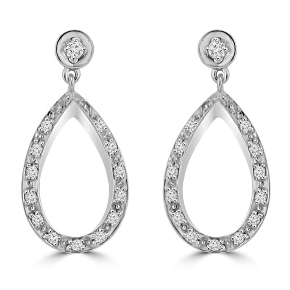 066 ct ladies round cut diamond chandelier earrings in 14 kt 066 ct ladies round cut diamond chandelier earrings in 14 kt white gold aloadofball Gallery