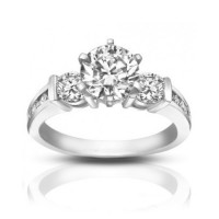 1.74 ct Ladies Round Cut Diamond Engagement Ring in Channel Setting