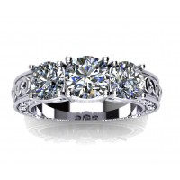 2.05 Ct Ladies Round Cut Diamond Engagement Ring