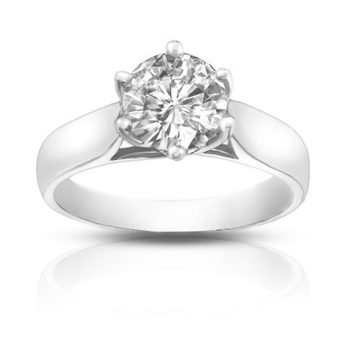 1.08 ct Ladies Round Cut Diamond Engagement Ring