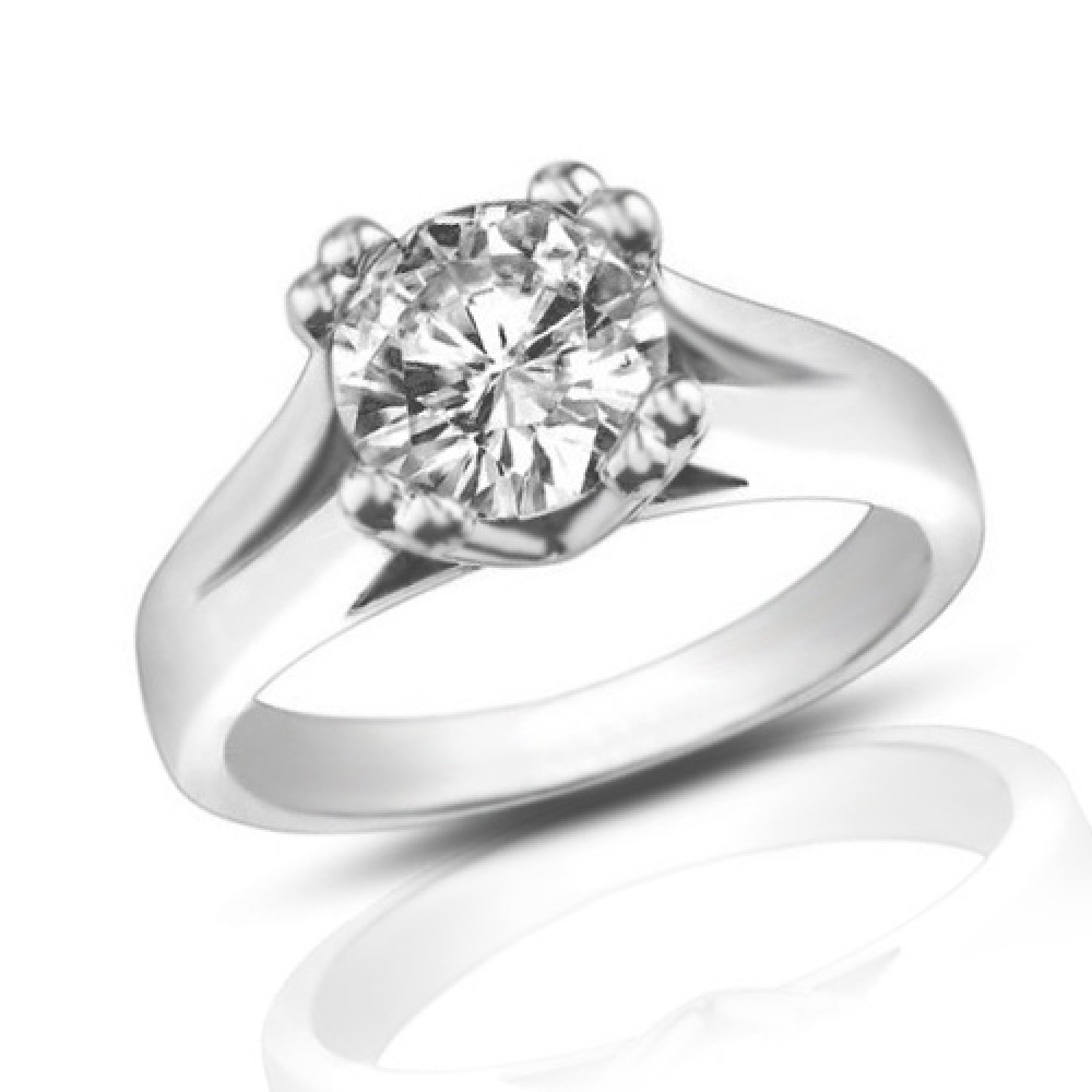 1 33 Ct Ladies Round Cut Diamond Solitaire Engagement Ring