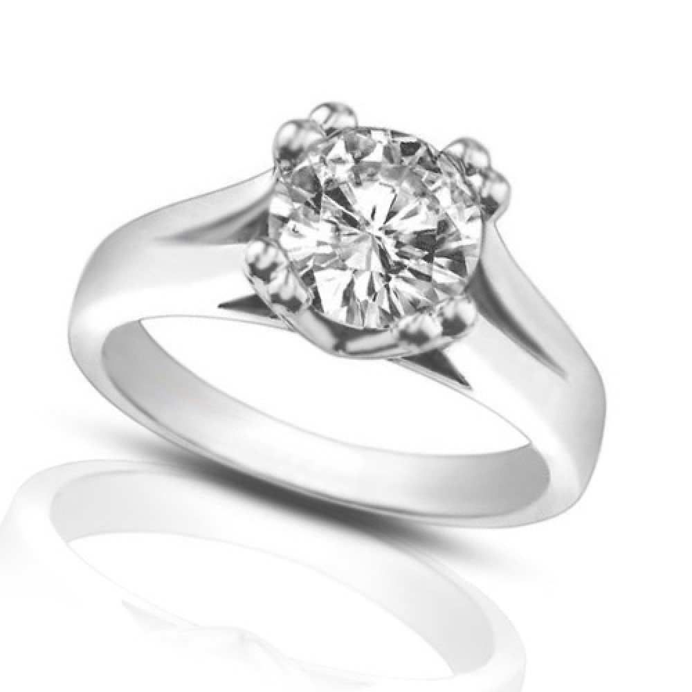 133 Ct Ladies Round Cut Diamond Solitaire Engagement Ring