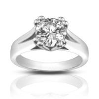 1.33 ct Ladies Round Cut Diamond Solitaire Engagement Ring