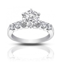 1.35 ct Ladies Round Diamond Engagement Ring