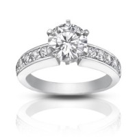 1.35 ct Ladies Round cut Diamond Engagement Ring